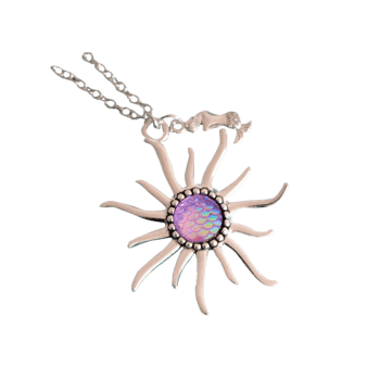 Mermaid Scale Sun Pendant Necklace - Violet Clair