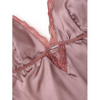 Cami Lace Trim Plunge PJ Set - 2XL 2XL