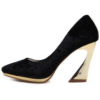 High-polish Heel Point Toe Pumps - 37 37