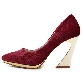 High-polish Heel Point Toe Pumps - 39 39
