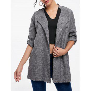 Open Front Tunic Coat
