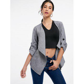 Long Sleeve Draped Open Front Blazer - XL XL