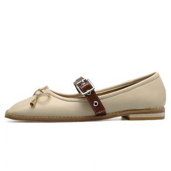 Bowknot Square Toe Mary Jane Flats - 37 37