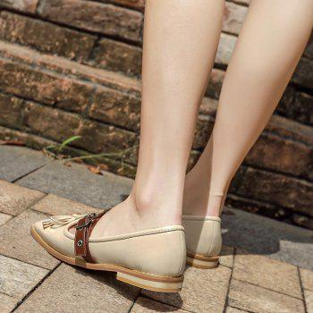 Bowknot Square Toe Mary Jane Flats - Abricot 39