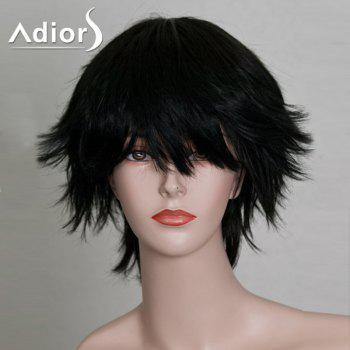Short Side Bang Anti-Alice Glossy Straight Synthetic Wig