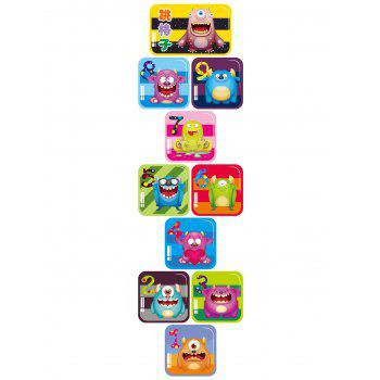 Monsters Hopscotch Wall Art Sticker For Children Room - 60*90CM 60*90CM