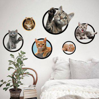 Cats Removable 3D Wall Art Sticker - COLORMIX COLORMIX