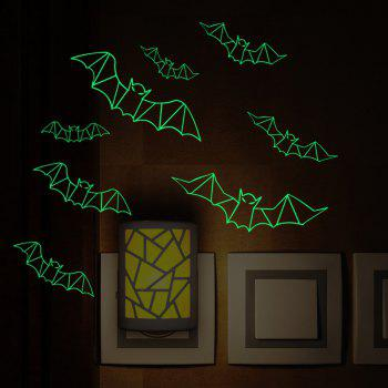Glow In The Dark Bats Halloween Wall Art Stickers