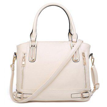 Belt Buckles Zippers Tote Bag - OFF-WHITE OFF WHITE