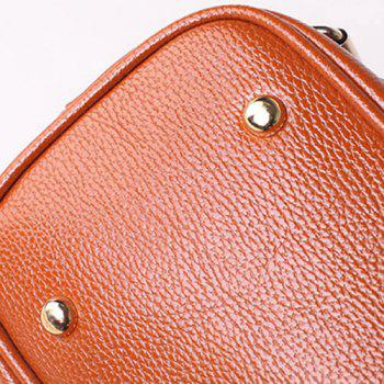 Belt Buckles Zippers Tote Bag - APRICOT