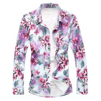 Long Sleeve All Over Floral Print Shirt