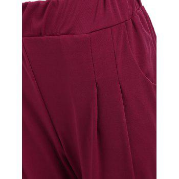 Elastic Waist Ankle Length Plus Size Pencil Pants - 6XL 6XL