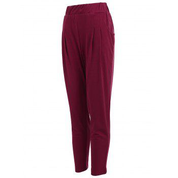 Elastic Waist Ankle Length Plus Size Pencil Pants - 5XL 5XL