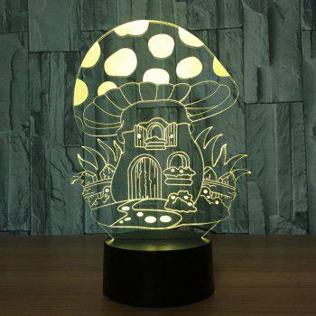 Cartoon Mushroom House Design Colors Change Touch Night Light - TRANSPARENT