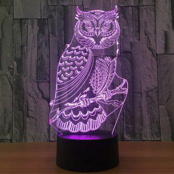 Owl Shape 7 Colors Change 3D Touch Night Light