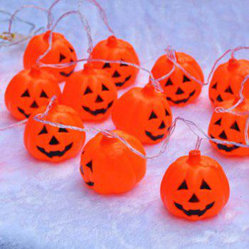 16 Pcs LED Halloween Pumpkin String Lights - ORANGE RED