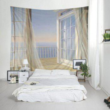 Balcon Ocean Tapestry Wall Hanging Art - Blanc W79 INCH * L59 INCH