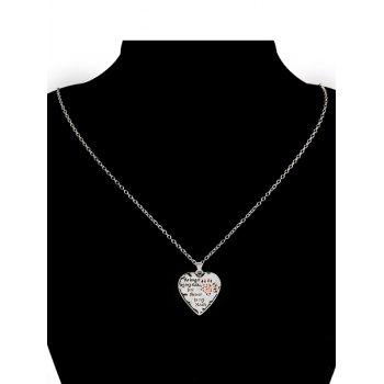 Heart Engraved Claw Footprint Forever Necklace -  RED