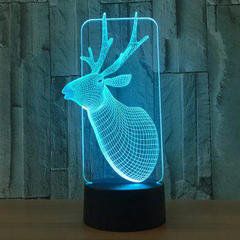 Christmas Elk 7 Colors Changing 3D LED Night Light -  TRANSPARENT