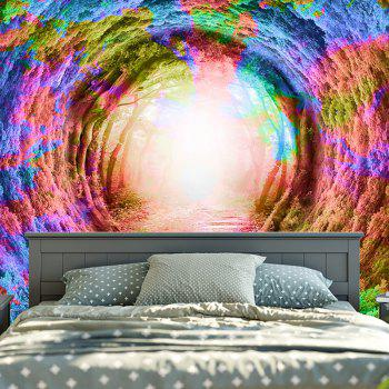 Forest Tree Hole Tapestry Wall Hanging - COLORFUL W79 INCH * L59 INCH