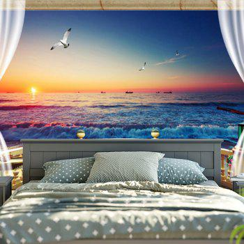 Wall Hanging Balcony Sea Bedroom Tapestry - BLUE W79 INCH * L59 INCH