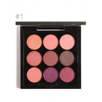 Long Lasting Not Dizzy 9 Colors Waterproof Eyeshadow Kit - #01
