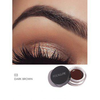 Anti Sweat Waterproof Long Lasting Eyebrow Gel Cream - DARK BROW DARK BROW