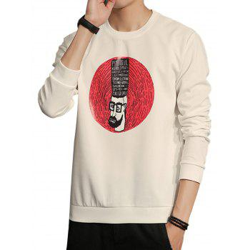Fingerprint Cartoon Crew Neck Sweatshirt