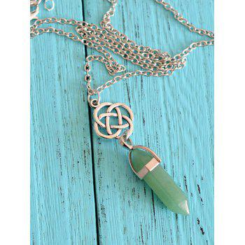 Natural Stone Collarbone Pendant Necklace - GREEN GREEN