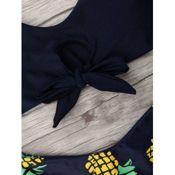 Pineapple Print Thong Bottom Bikini Set - XL XL