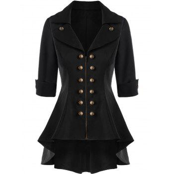 Double Breasted Short Flare Trench Coat