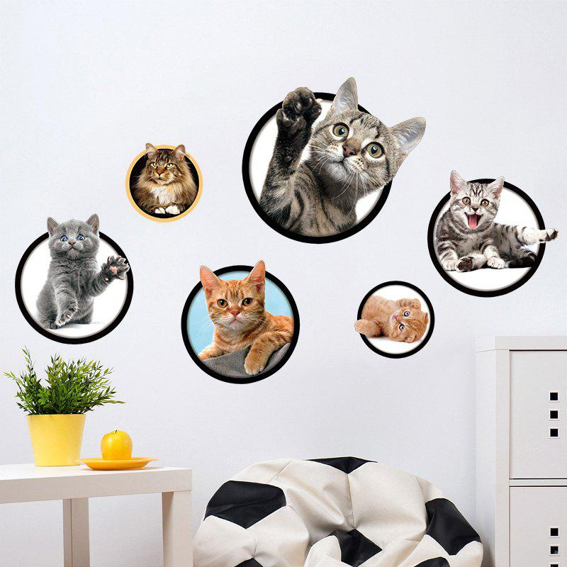 Cats Removable 3D Wall Art Sticker home decoration removable quote wall art sticker