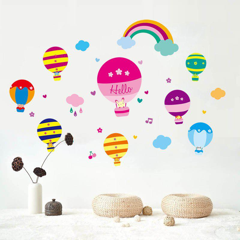 Cartoon Hot Air Balloon Wall Stickers For Children Room allenjoy backdrops for photo thin vinyl paris tower hot air balloon bike background photography photocall camera