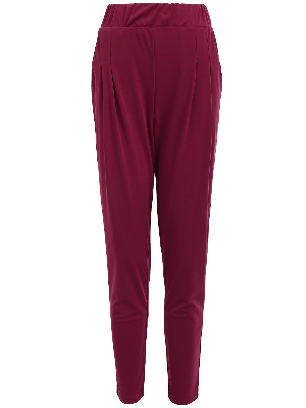 Elastic Waist Ankle Length Plus Size Pencil Pants ankle length elastic mens pencil pants