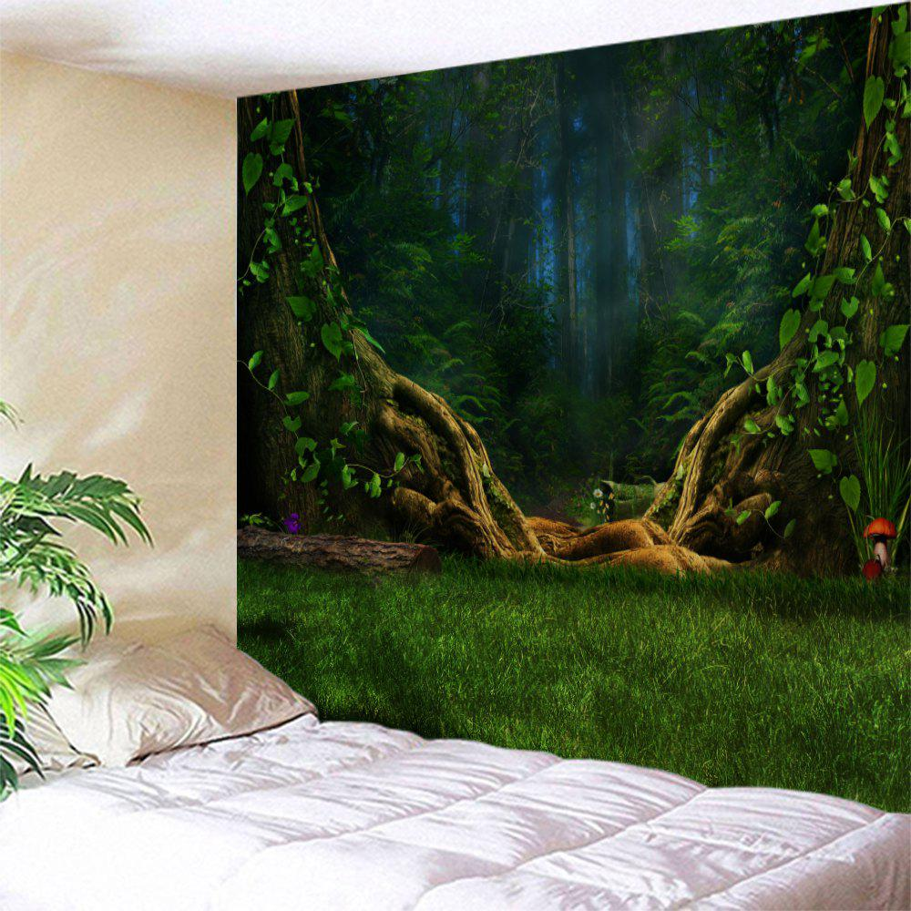 Dreamlike Forest Wall Decoration Hanging Tapestry valentine s day heart starlight print tapestry wall hanging decoration