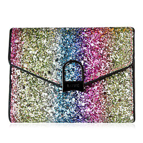 Multicolor Sequins Metal Small Wallet - multicolorcolore