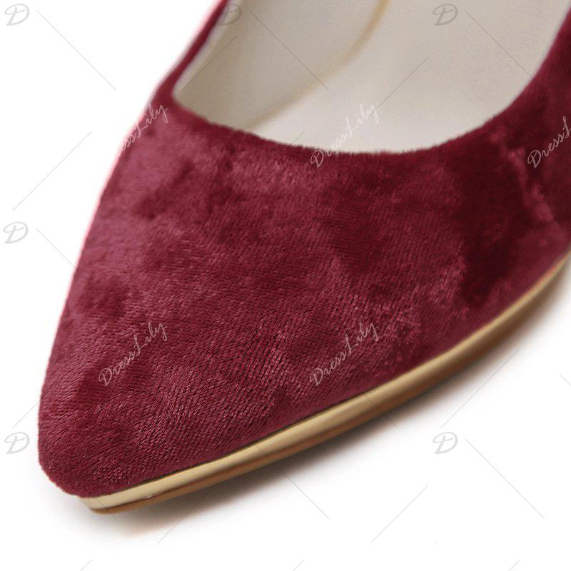 Pompes High-polish Heel Point Toe - Rouge 40
