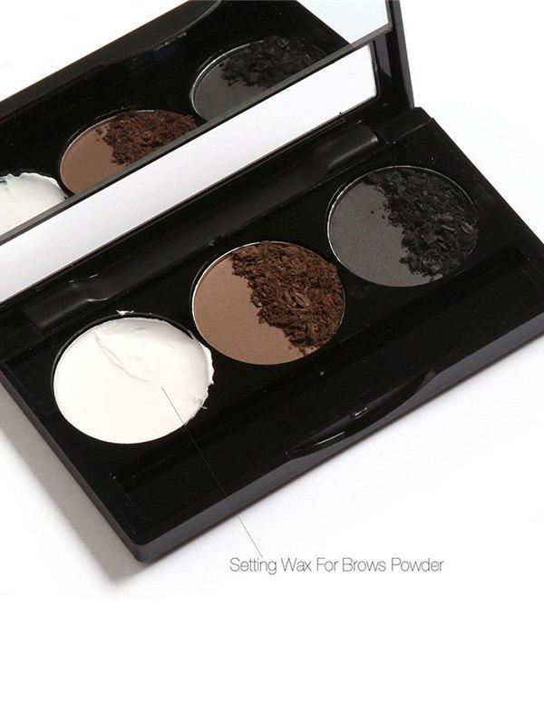Anti Sweat Waterproof 3 Colors Brows Powder Kit With Brush -
