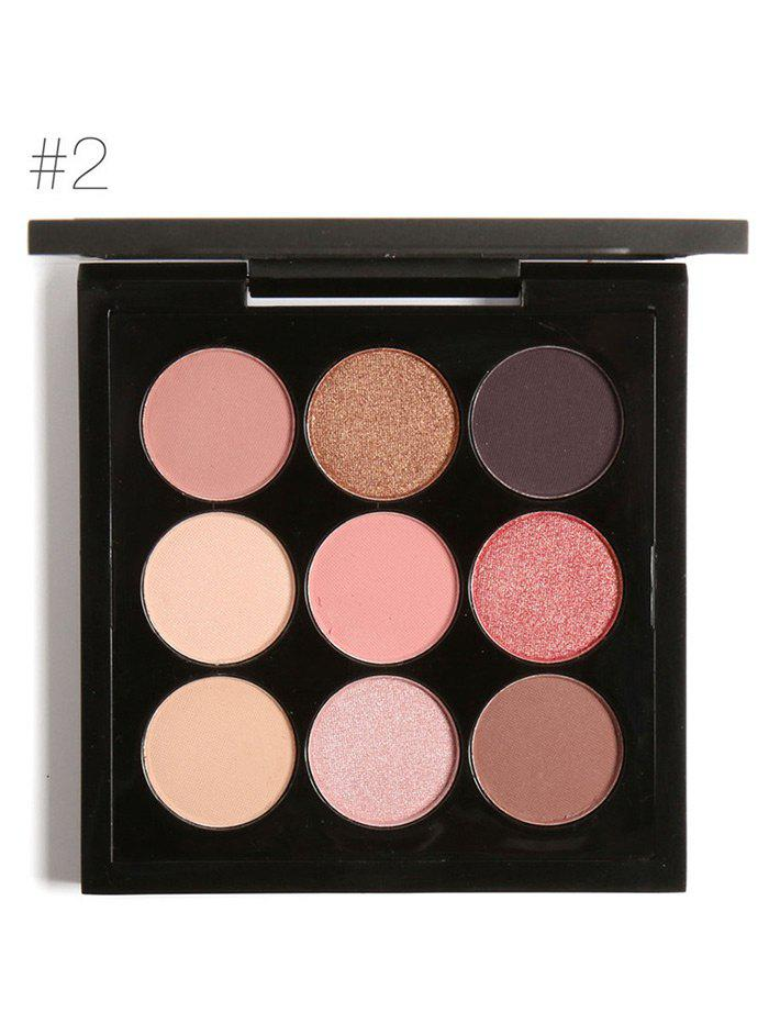 Long Lasting Not Dizzy 9 Colors Waterproof Eyeshadow Kit -
