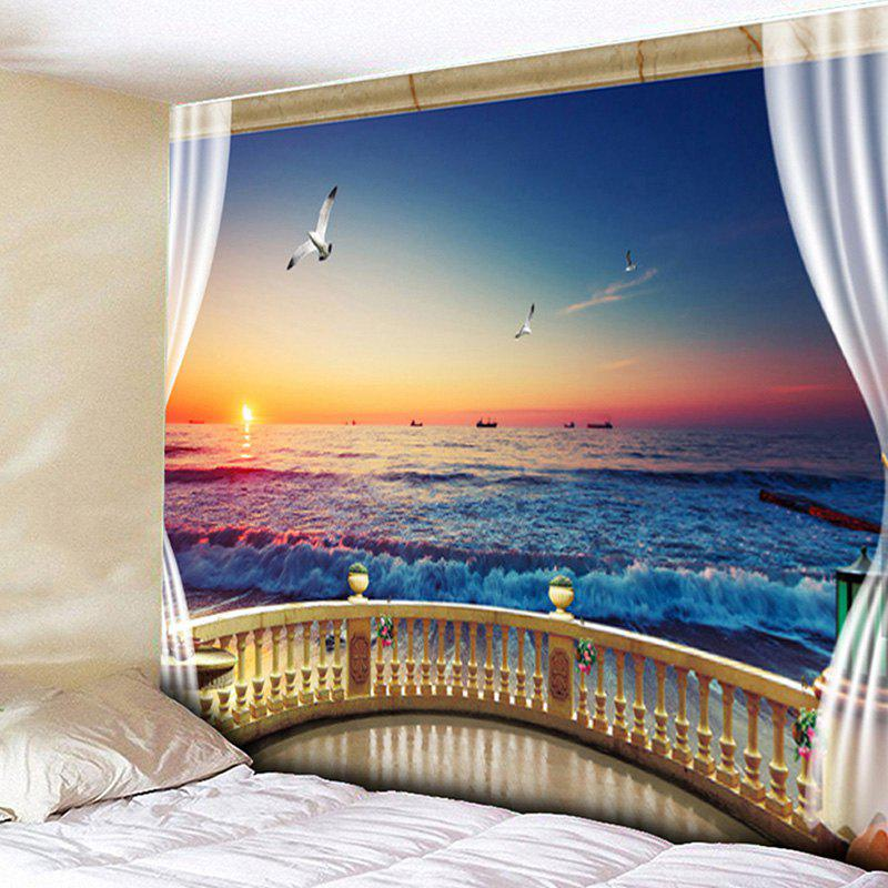 Wall Hanging Balcony Sea Bedroom Tapestry зажимы blunt 2 bolt clamp oil slick