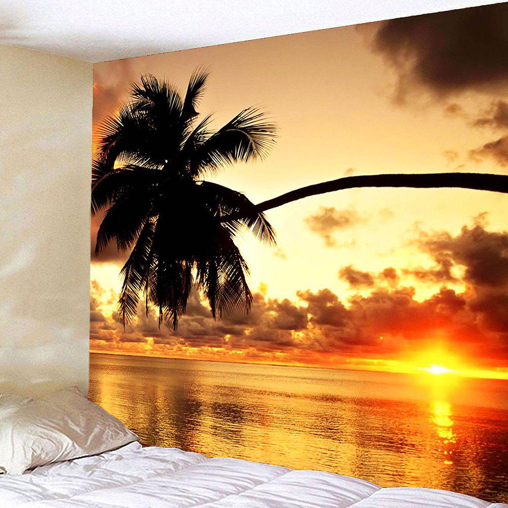 Sunset Coconut Tree Waterproof Wall Hanging Tapestry sunset park