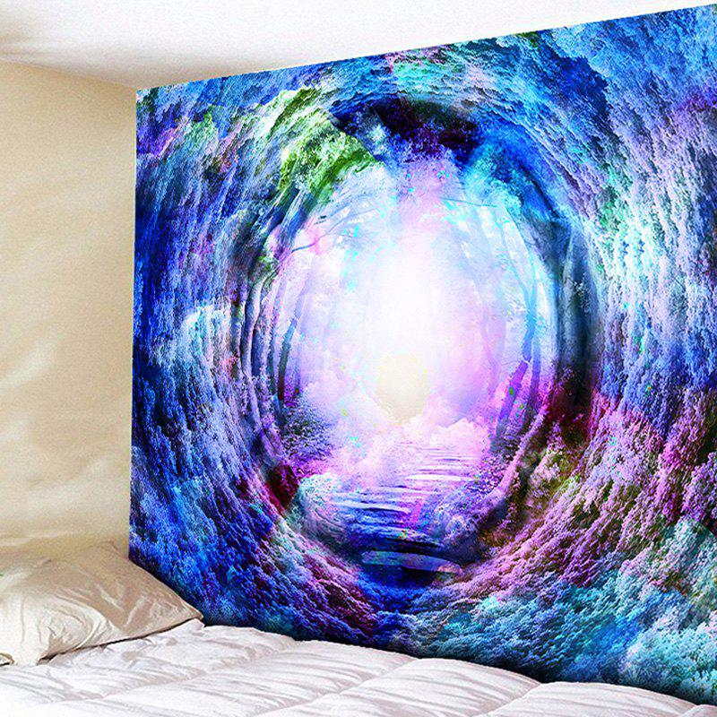 Forest Tree Hole Tapestry Wall Hanging - BLUE VIOLET W59 INCH * L51 INCH
