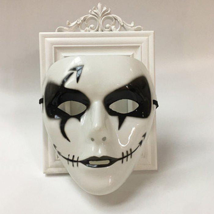 Ghost Mask Halloween Party Dancer Accessories - WHITE FOR MEN (W16.5*H19.5CM)