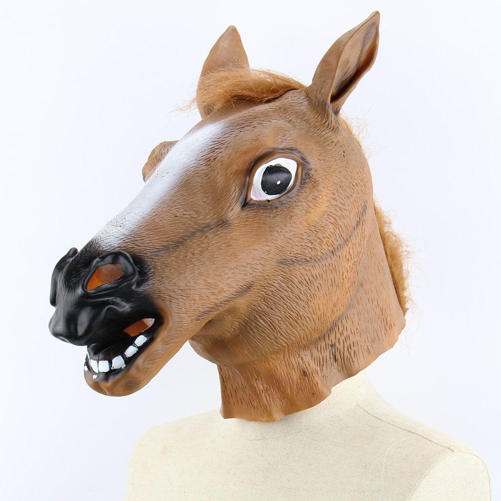 Halloween Horse Head Party Mask - BROWN