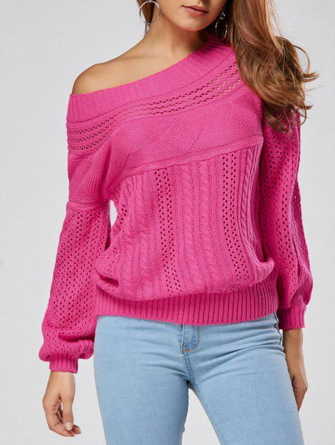 Hollow Out Cable Sweater - TUTTI FRUTTI S