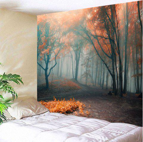 Misty Forest Wall Hanging Tapestry For Bedroom - COLORMIX W59 INCH * L79 INCH