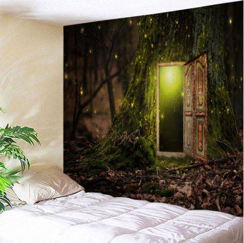 Fairy Tree Decorative Wall Art Hanging Tapestry - COLORMIX W71 INCH * L91 INCH