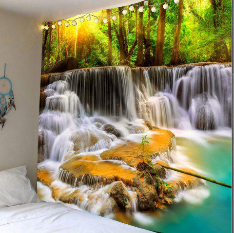 Mountain Waterfalls Printed Wall Hanging Tapestry - COLORMIX W79 INCH * L71 INCH