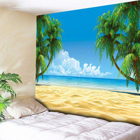 Beach Coconut Palm Print Wall Decor Tapestry - SKY BLUE W79 INCH * L59 INCH