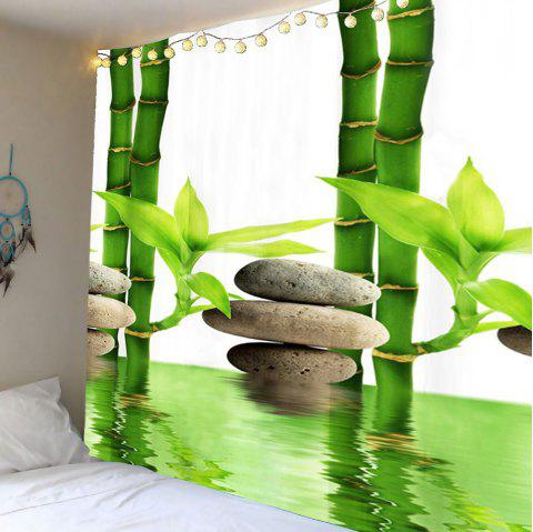 Wall Hanging Bamboo Forest Pool Tapis imprimé - Vert W59 INCH * L51 INCH